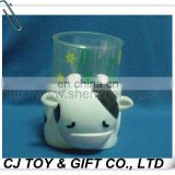"3.15"" Plastic Cow Pencil Vase"