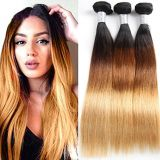 XYHair 8A Grade cheap 100% Virgin Brazilian Ombre remy straight Hair 3 Bundles double weft Human Hair Extensions weave 1