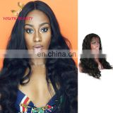Factory price 9A grade 100% brazilian human virgin hair full lace wig in body wave raw unprocessed hair