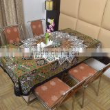 Indian Cotton Table Cloth Star Printed Black-Green Dinning Table Cloth Vintage Wall Hanging Throw Bed Sheet Cover TC11