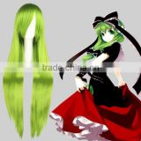 High Quality 100cm Long Straight Touhou Project-Hina Kagiyama Green Synthetic Anime Wig Cosplay Hair Wig Party Wig