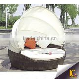 Rattan Garden Furniture rattan/wicker sun lounger daybed/Round Day Bed / Sofa                                                                         Quality Choice