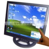 "17"" lcd panel frame wateproof front IP65 touch screen computer monitor for bus use resolution1280*1024 with vga hdmi"