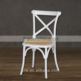Stackable wooden chair white rental wedding cross back chair                                                                         Quality Choice                                                                     Supplier's Choice