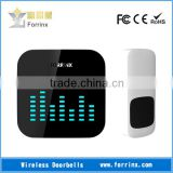 FORRINX 52 Melodies 300m Range Black Wireless Plug In DingDong Doorbell with Jumpy LED Flashing Lights Easy To DIY
