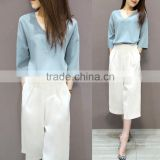 The spring and autumn period and the new female students two-piece, Long Sleeve + wide-legged pants suit