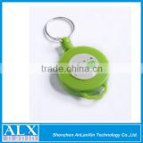 Top grade black key ring plastic badge holder