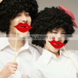 Funny Photo Booth Prop Lips Hats Moustache Glasses Colorful Card On A Stick Wedding Decoration Favor