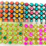 mixed colors hot fix rhinestone mesh