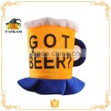 Beer Mug Football Fan Hat for World Cup Oktoberfest Hat