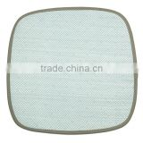 Blue Square Woven Cool Car Chair Paper Cushion Mat