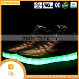 Famous shoes brands in china students sports LED flash led flashing shoe light light up dance shoes for party