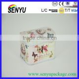 2015 hot selling Beautiful and Colorful custom made package tin box for candy