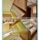 Glass Balustrade With Wood Handrail DS-LP381