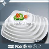 Good quality dinner plate white custom ceramic breakfast dinnerware set