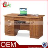 2014 new design elegant office furniture office table wooden computer desk with 3 drawers FC901