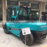hydraulic forklift the biggest heavy duty solid tire 80 volt motor powered 4wheel 12 ton electric forklift