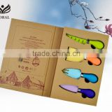Environmentally friendly book boxes design cheese knife set                                                                         Quality Choice