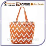 New Design Chevron Lady Beach Bag For Fashion Jute Bag