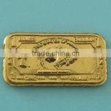 A108 1 gram brass buffalo bar