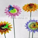 4 inch Plastic Chrysanthemum Flower Decorations Craft, Garden Stakes Wholesale, Piquet de Jardin