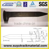 Railway Steel Rail Track Screw Spike