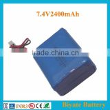 Best selling 104050 2400mAh 7.4V lipo battery for heating vest