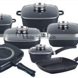 LFGB/FDA/ DGCCRF cetified DESSINI SET 20pcs Die-casting Aluminum non-stick cookware sets