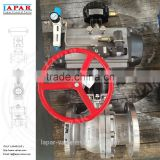 LAPAR factory price Flanged Pneumatic Ball Valve with Handwheel Limit Switch Solenoid Valve