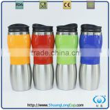 Two-Toned Double Wall Insulated Unique Coffee Travel Mug Tumbler