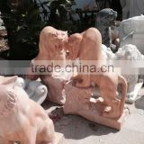 Tiger sculpture statue marble stone hand carved for home garden hotel restaurant from Vietnam No 07