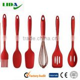 cooking utensils set silicone icing spatula kitchen Gadgets-slotted turener ,slotted spoon, spoon, egg whisk , brush, shovKIT315
