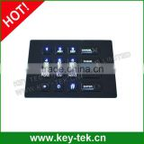 16 keys Black Titanium durable backlight metal keypad