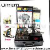 Professional newest hot sell tattoo kit,tattoo machine sets with two guns