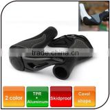 2015 hot sell Cavel shape rubber bicycle grip aluminum anti-skid Bike Cycling bicycle Handlebar grip