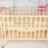 super quality baby bed,adjustable,moveable,folding wood & bamboo baby crib