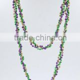 carnival party Bead chain necklace catholic rosary beads earring