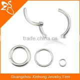 surgical steel 16G,14G Nose Hinged Segment Ring septum clicker 14g for Body Jewelry Piercing
