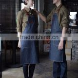 Custom denim leather work apron for waiter