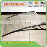 Aluminum single door awning canopy material rain protection for windows or entrance