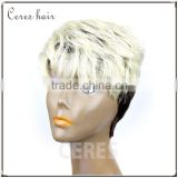 Japanese fiber blond 613 Synthetic wig full lace wig top quality fashion style Italian wave