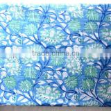 RTHCF-1 Sanganeri Hand block printed pure natural cotton fabric 100% cambric running fabric wholesaler and Indian manufacturer
