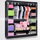 folding personal door diy plastic foldable wardrobe