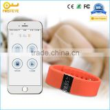 Hot Sell digital Smart vibrating silicon wristband with fitness tracker, health monitor and alarm function
