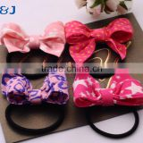 Top Selling Cute Bowknot Hair Accessories For Women Scrunchy, Leather headbands Elastic Hair Bands