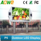 High resolution outdoor P5 led sign for street advertising/pole advertising display led sign