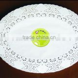 Indonesian White Oval Glassine Paper Doily
