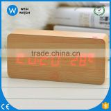 NC001 Wholesale Suppliers Cheap wood wooden clocks, Desktop table Alarm Clock ,LED clocks online shop selling clock wooden watch