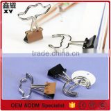 decoration customer logo metal silver mustache wire colorful binder clip 25mm