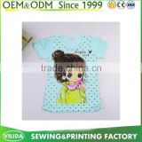 Fashion Girl printed Summer Casual T Shirt With Pattern Soft Cotton Cute Kids Clothes For 3-12 Years